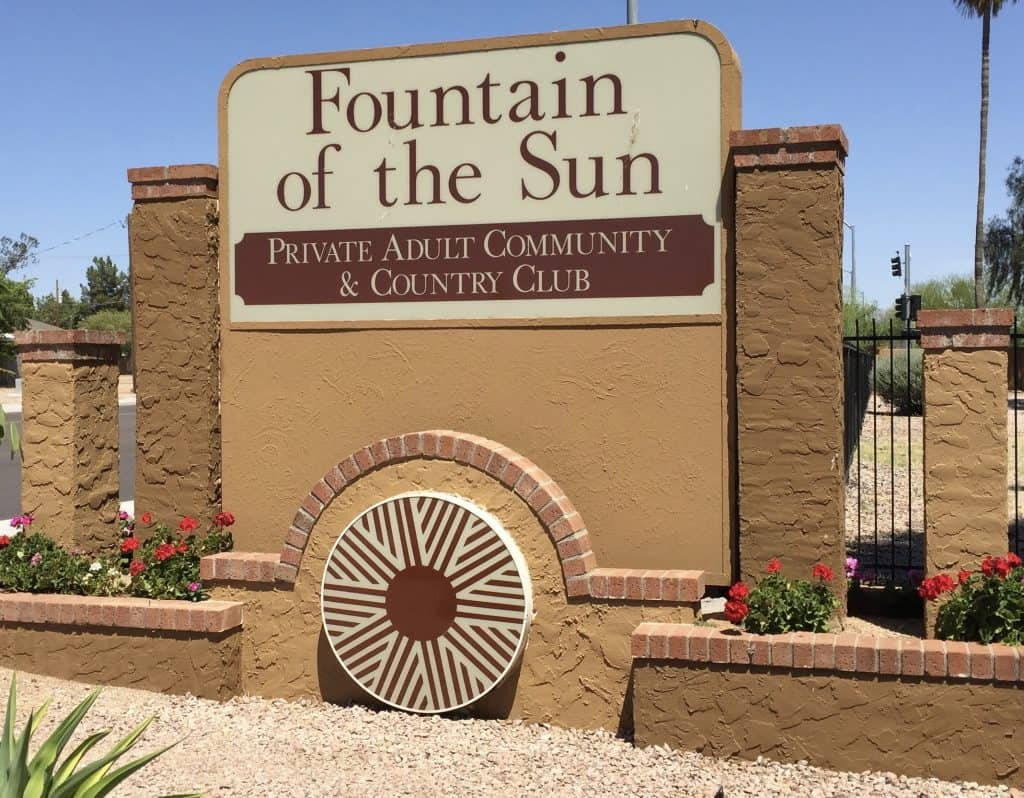 Fountain Of The Sun Community Map Arizona Retirement