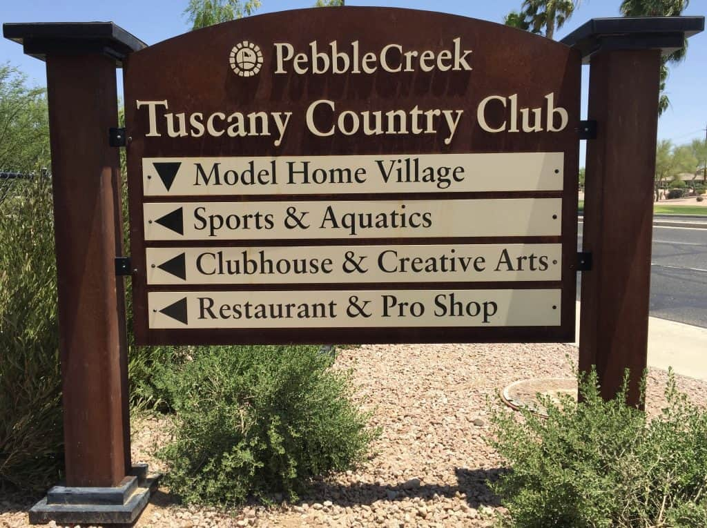Tuscany Falls Pebblecreek Arizona 55 Communities