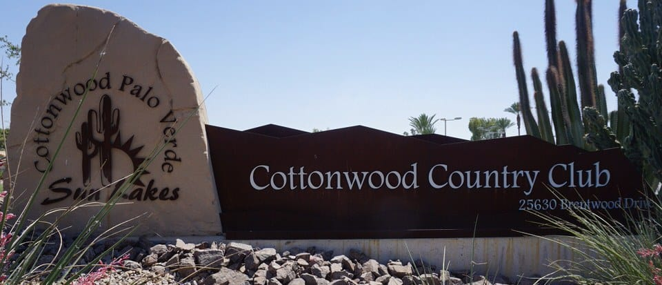 Welcome to Cottonwood Country Club in Sun Lakes AZ